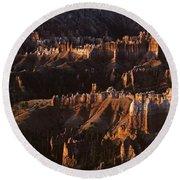 Bryce Canyon National Park Hoodo Monoliths Sunrise Southern Utah Round Beach Towel