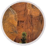 Bryce Canyon National Park Hoodo Monoliths Sunset From Sunset Po Round Beach Towel