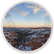 Bryce Canyon National Park Utah Round Beach Towel