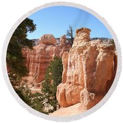 Bryce Canyon  Red Rocks Round Beach Towel