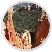 Bryce Canyon - Thors Hammer Round Beach Towel