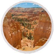 Bryce Canyon Valley Walls Round Beach Towel