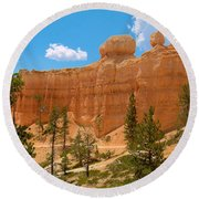 Bryce Canyon Walls Round Beach Towel