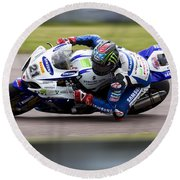 Bsb Superbike Rider John Hopkins Round Beach Towel
