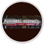 B District Round Beach Towel