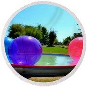 Bubble Ball 1  Round Beach Towel