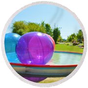 Bubble Ball 2 Round Beach Towel