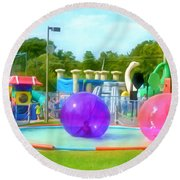 Bubble Ball 4   Round Beach Towel