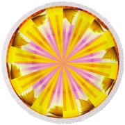 Bubble Glowing Round Beach Towel