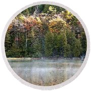 Bubble Pond Acadia National Park Round Beach Towel