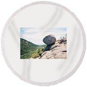 Bubble Rock Acadia National Park Maine Round Beach Towel