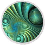 Bubble Spiral Round Beach Towel