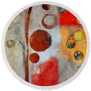 Bubble Tree - Ls55 Round Beach Towel by Variance Collections