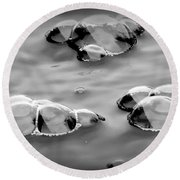 Bubbles 1 Round Beach Towel