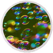 Bubbles Bubbles And More Bubbles Round Beach Towel