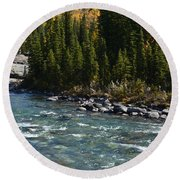 Bubbling River Round Beach Towel