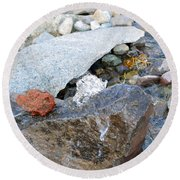 Bubbling Rock Round Beach Towel