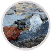 Bubbling Rocks Round Beach Towel