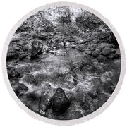Bubbling Water Brook In The Smokies Round Beach Towel