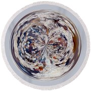Bubbly Orb Round Beach Towel