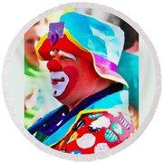 Bubby The Clown Round Beach Towel