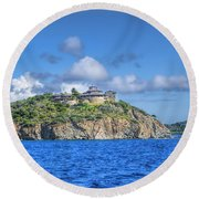 Buck Island Round Beach Towel
