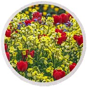 Buckingham Beauty Round Beach Towel