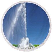 Buckingham Fountain Spray Round Beach Towel