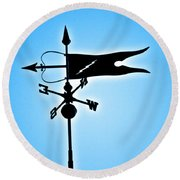 Bucksport Weathervane Round Beach Towel