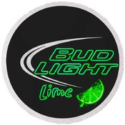 Bud Light Lime 2 Round Beach Towel
