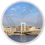 Budapest Skyline Round Beach Towel