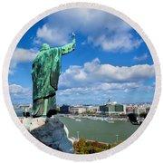 Budapest. View From Gellert Hill Round Beach Towel by Michal Bednarek