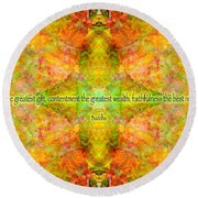Budda Quote On Life Round Beach Towel