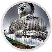 Buddha Aura Round Beach Towel