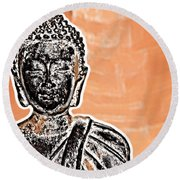 Buddha Face Round Beach Towel