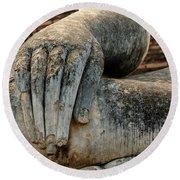 Buddha Hand Thailand Round Beach Towel