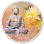 Buddha Of Compassion Round Beach Towel