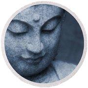 Buddha Statue Round Beach Towel by Dan Sproul
