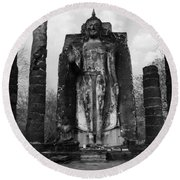 Buddha Wat Sri Chum Thailand 2 Round Beach Towel