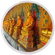 Buddhas At Wat Arun, Bangkok Round Beach Towel