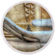 Buddha's Hand Round Beach Towel by Adrian Evans