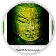Buddhas Mind II Round Beach Towel
