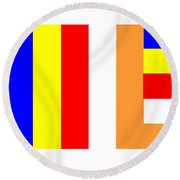 Buddhist Flag Round Beach Towel
