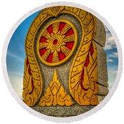 Buddhist Icon Round Beach Towel