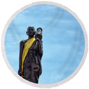 Buddhist Statue Round Beach Towel