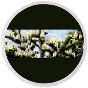 Buds 2 Abstraction Round Beach Towel