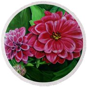 Buds And Blossoms Round Beach Towel