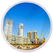 Buenos Aires Waterfront Round Beach Towel
