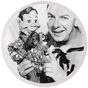 Buffalo Bob And Howdy Doody Round Beach Towel