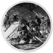 Buffalo Soldiers Round Beach Towel